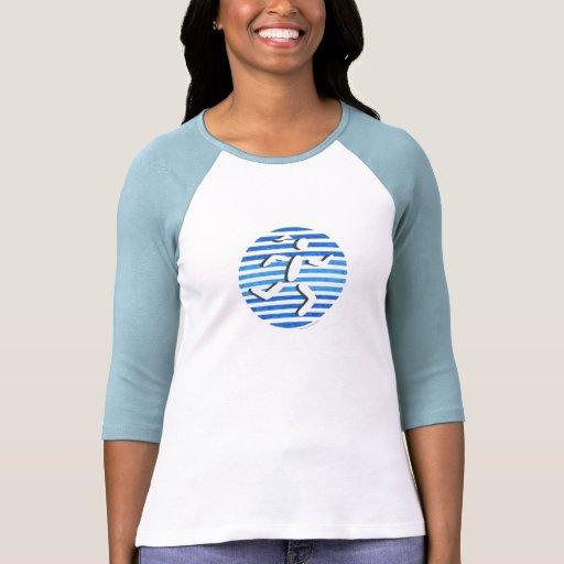 blue female runner t-shirts
