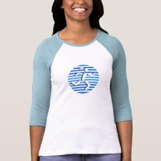 blue female runner shirt