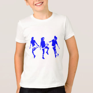 Blue Female Soccer Skills T-Shirt