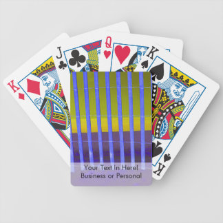 blue fence yellow sea beach image bicycle playing cards