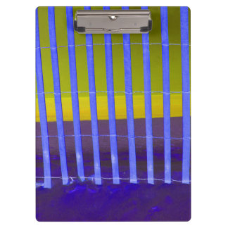 blue fence yellow sea beach image clipboard