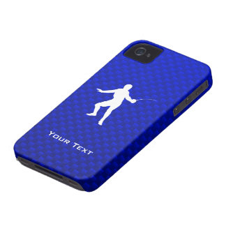Blue Fencing iPhone 4 Case-Mate Cases