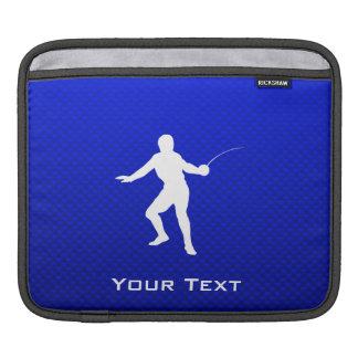 Blue Fencing iPad Sleeve