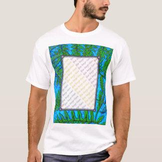 Blue Fern photo t-shirt template