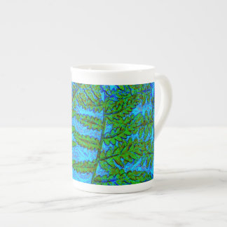 Blue Fern Tea Cup