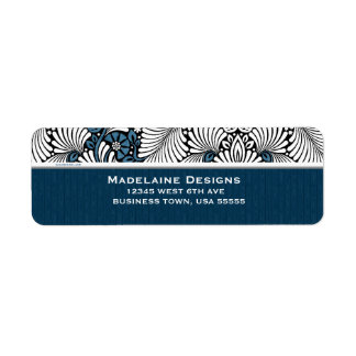 Blue Fern with Small Standard Text Label