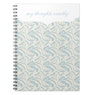 Blue Ferns Notebook notebook