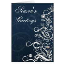 Blue Festive Christmas Greeting Cards