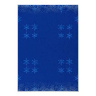 blue festive pattern card