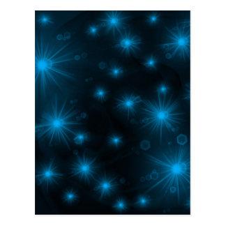 blue festive stars postcard