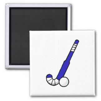 Blue Field Hockey Stick Magnet