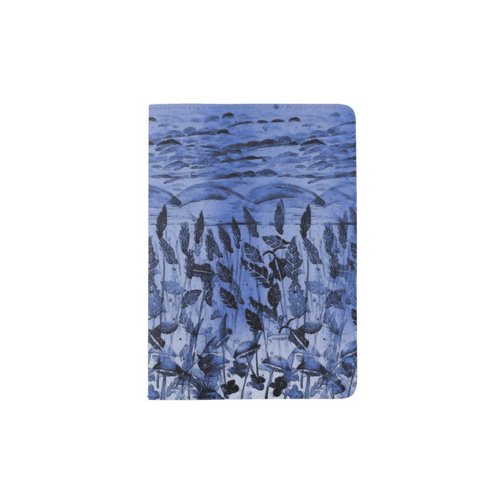 Blue Field on Passport Holder