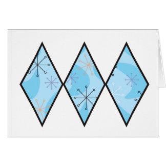 Blue Fifties Diamonds Card