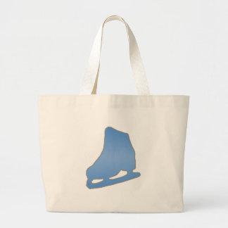 Blue Figure Skate Large Tote Bag