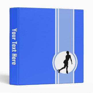 Blue Figure Skating 3 Ring Binder