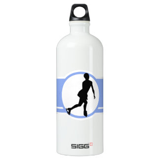 Blue Figure Skating Aluminum Water Bottle