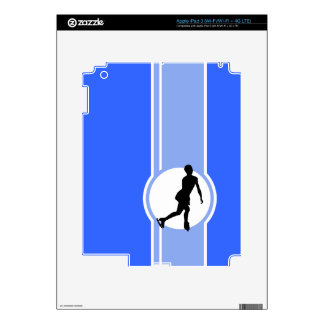 Blue Figure Skating Decal For iPad 3