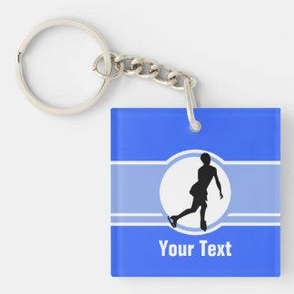 Blue Figure Skating Keychain