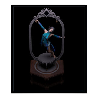 Blue Figurine Poster