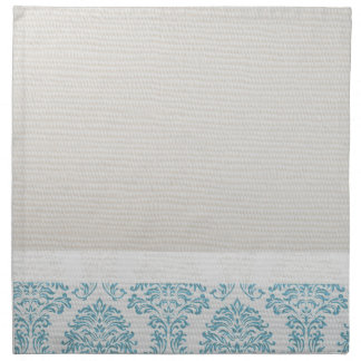 Blue Filigree Damask Napkins