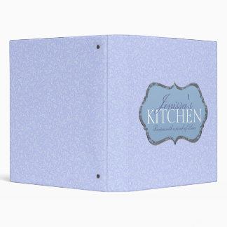 Blue Filigree Recipe Binder