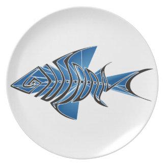 Blue Fin Melamine Plate