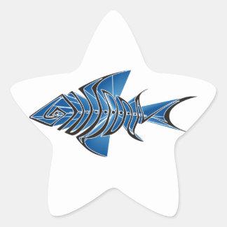 Blue Fin Star Sticker