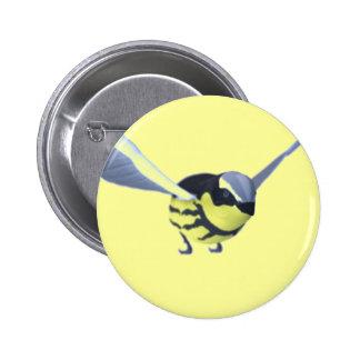 Blue Finch button badge