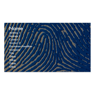 Blue fingerprint magnified Double-Sided standard business cards (Pack of 100)