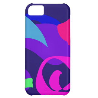 Blue Fire 2 Navy Cover For iPhone 5C