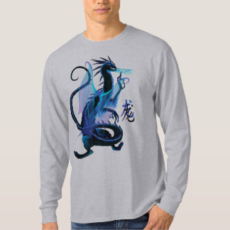 Blue Fire and Chinese Symbol Tshirts