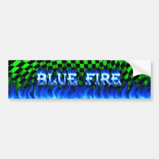 blue fire car bumper sticker