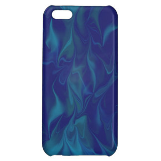 Blue Fire Distorted Digital Art Cover For iPhone 5C