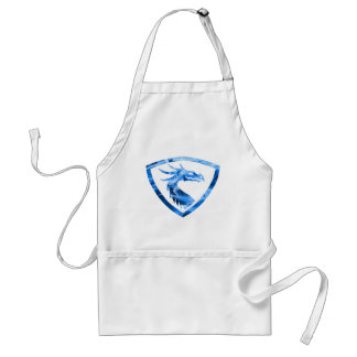 Blue fire dragon 1 adult apron