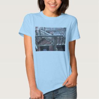 blue fire escape T-Shirt