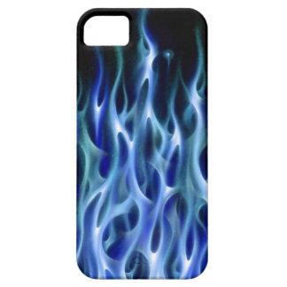 Blue Fire Flame design airbrush car custom cool ho iPhone SE/5/5s Case
