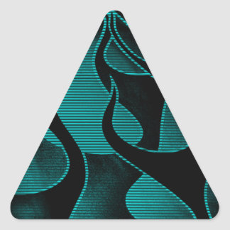 Blue Fire Flames Add Text Triangle Sticker