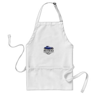 blue fire in the belly adult apron