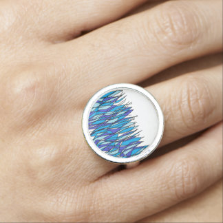 blue fire photo ring