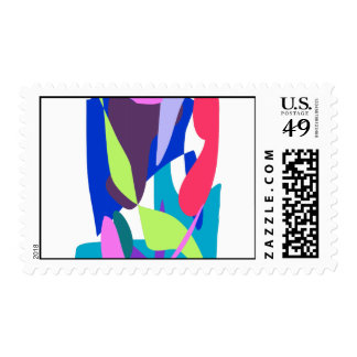 Blue Fire Postage Stamp
