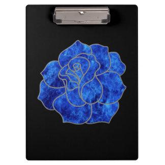 Blue Fire Rose Clipboard