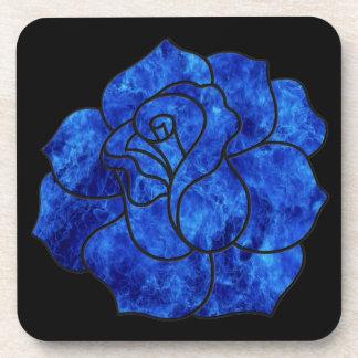 Blue Fire Rose Coasters