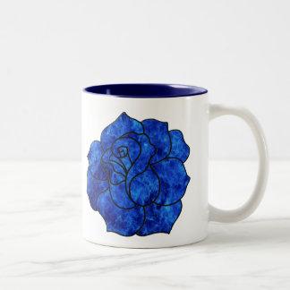 Blue Fire Rose Mug