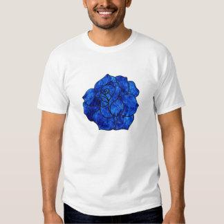 Blue Fire Rose T-shirt