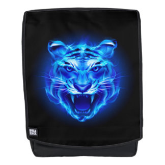 Blue Fire Tiger Face Boldface Backpack