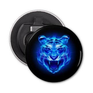 Blue Fire Tiger Face Bottle Opener