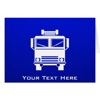 Blue Fire Truck Card