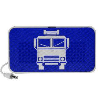 Blue Fire Truck Speaker