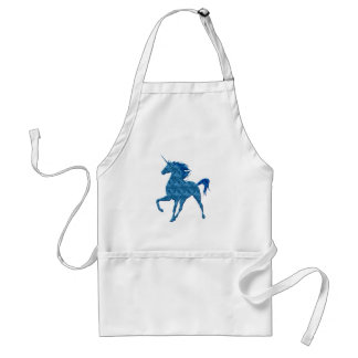 Blue Fire Unicorn Apron