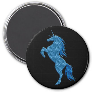Blue Fire Unicorn Magnet